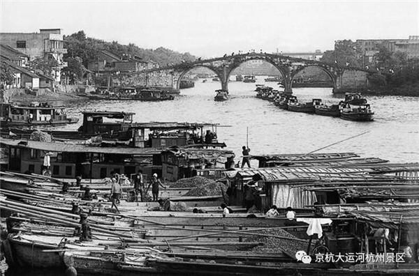 这些杭州运河边的老照片