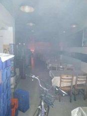 饭店厨房起火,美菜配送