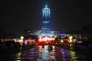 西湖文化广场夜色